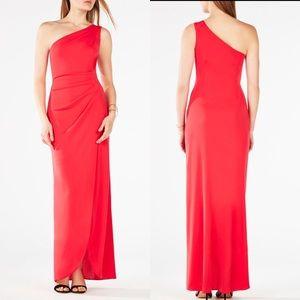 💃🏻NWT asymmetric one shoulder maxi red dress